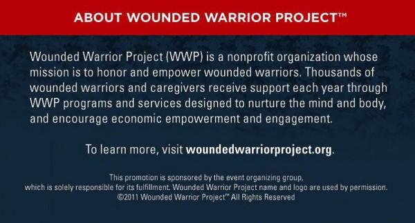 Wounded Warrior Project Benefit
